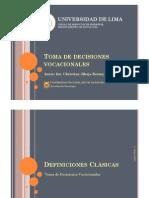 Toma de Decisiones Vocacionales [parte01]