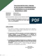 Conclusiones y Subsanacion TC