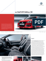 Golf Gti Edition 30 Brochure