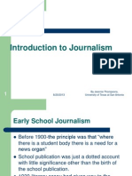 Introduction to Journalism by Jennie Thompsons