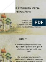 Kriteria Pemilihan Media Pengajaran