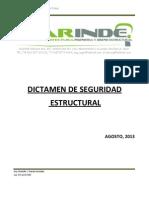 Dictamen de Seguridad Estructural Edificio Plan de Guadalupe