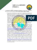 COMUNICADO A LA OPINIÓN PÚBLICA-1