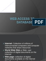 Web Access to Databases