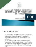 DISEÑO DE TUBERIAS EN PLANTAS DE EXPLORACION Y PRODUCCION DE HIDROCARBUROS