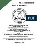 TB 11-5820-890-20-89  INSTALLATION OF MK-2790/VRC IN AN AN/TMQ-41