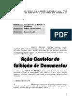 Ação Cautelar de Exibição de Documentos (Josberto x Banco do Brasil)