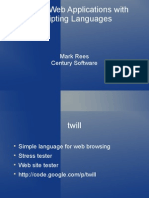Testing Web Apps With Scripting Languages Mark Rees