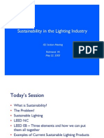 Lighting - Sustainable Design and LEED