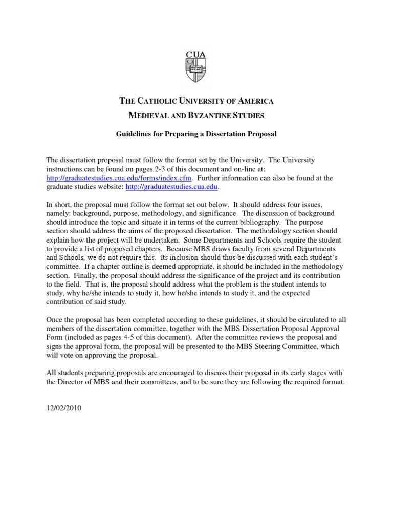 Dissertation proposal service kcl