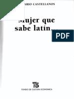 Mujer que sabe latín - Rosario Castellanos