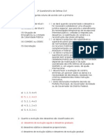 2° Questionário de Defesa Civil