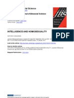 Intelligence and Homosexuality