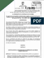 Decreto 255 de 2013