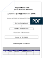 Sap Pm End User Manual Calibration Process