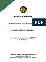 Formulir Aplikasi Kategori Retrofitted Building 2011 (Final) (1)