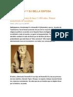 Amenofis IV y Su Bella Esposa Nefertiti