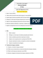 Lista de Objectivos - 6º teste