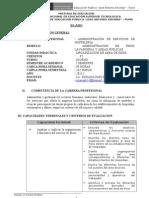 SILABUS DE ORGANIZACIÓN DE PISOS