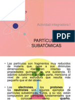 PARTÍCULAS SUBATÓMICAS