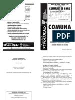 Caderno Documentos Da Comuna