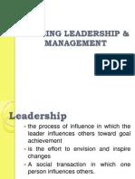 LEC 1 PRELIM Nursing Leadership and Management