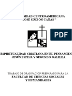 ESPIRITUALIDAD CRISTIANA , PENSAMIENTO DE JESÚS