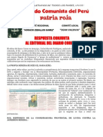 Respuesta Conjunta a Editorial Del Diario Correo