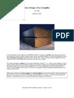 How to Design a Class D Amplifier