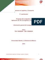 Berrones 2012, TIC en Logistica y Transporte