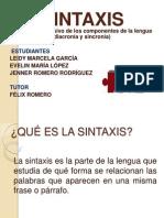 Diapositivas de La Sintaxis 2