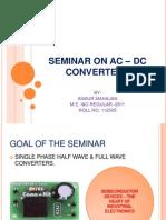 SEMINAR ON AC – DC CONVERTERS.pptx