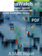 Stigma Watch - Tackling stigma againstmental illness and suicide in the Australian media