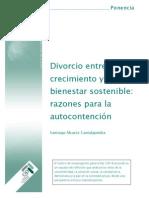 SANTIAGO ALVAREZ  DIVORCIO ENTRE CRECIMIENTO Y BIENESTAR SOSTENIBLE RAZONES PARA LA AUTOCONTENCIÓN