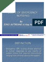 Scope of Emergency Nursing