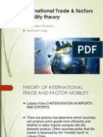 International Trade & Factors Mobility Theory