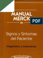 Manual Merck de Signos Y Sintomas Del Paciente
