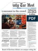 The Daily Tar Heel for August 21, 2013