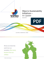Wipro's Sustainability Initiatives – An Update Dec-2012