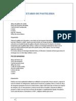 Recetario de Pasteleria 1