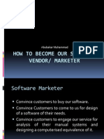 Software Vendor & Marketing