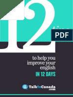 TalktoCanada 12 Tips Improve English