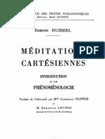 Edmund Husserl-Méditations cartésiennes _ Introduction a la phénoménologie-Libraire philosophique J. Vrin (1966)
