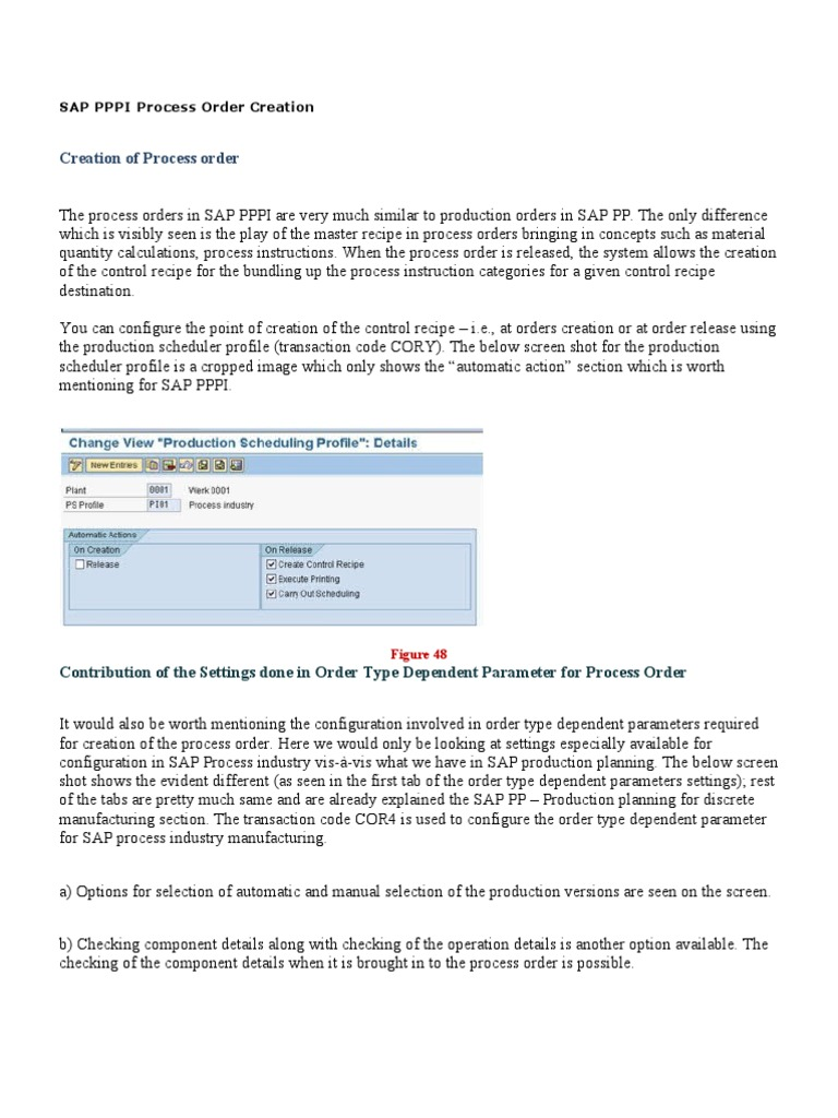 sap pppi process order creation scheduling production processes rh scribd com SAP QM Documentation SAP Co