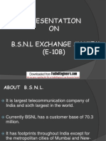 BSNL Exachange System