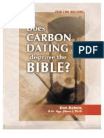 Does Carbon Dating Disprove the Bible?