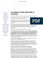 Australia and N Z in Prophecy