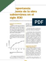 Importancia Creciente de La Obra Subterranea. SXXI