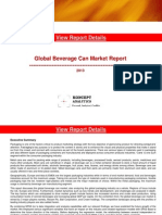 Global Beverage Can Market Report
