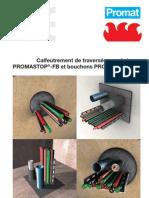 Calfeutrement de traversées par briques PROMASTOP®-FB et bouchons PROMASTOP®-FP